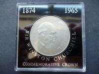 1965 SIR WINSTON CHURCHILL CROWN COIN HOUSED IN NEAR SCRATCH FREE PERSPEX CASE.