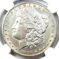 1894-S MORGAN SILVER DOLLAR $1 COIN - CERTIFIED NGC AU DETAILS -  DATE