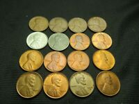 16 DIFFERENT LINCOLN WHEAT CENTS 1940-S 1952-S EXTRA FINE /AU W/1941 S,1942 S, 1943 P & S