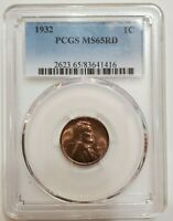 1932 LINCOLN CENT MINT STATE 65 RD PCGS