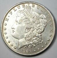 1901-S MORGAN SILVER DOLLAR $1 COIN - UNCIRCULATED DETAILS UNC MS -  DATE