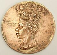 1792 BARBADOS PENNY GOLD GILT REMAINS MAY BE OLD JEWELRY 12.9G 30.3 TO 31MM