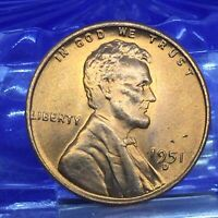 1951 D LINCOLN WHEAT CENT HIGH MS GRADE 2