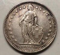 1912B SWITZERLAND 2 FRANCS SILVER  LOW STARTING BID