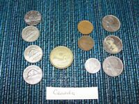 CANADA COIN 1968 25 CENT 5 CENT 1938 1940 1953 1 CENT 1932 1
