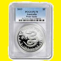 2013 CHINESE LUNAR YEAR OF THE SNAKE PCGS PR 70 AUSTRALIA 1