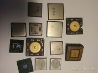 MIXED BATCH OF 13 OLD CERAMIC AND OTHERS CPUS FOR GOLD RECOV
