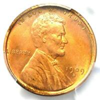 1909-S VDB LINCOLN WHEAT CENT PENNY 1C - PCGS UNCIRCULATED DETAIL MS BU UNC