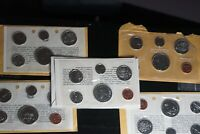 LOT OF 5 CANADA CANADIAN COIN PROOF SETS