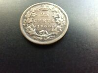 1900 CANADIAN 25 CENT COIN  PICTURE IS THE ACTUAL COIN