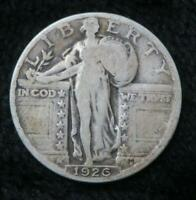 1926 STANDING LIBERTY QUARTER  STRONG, CLEAR DATE  BOOK QUALITY  SILVER  850