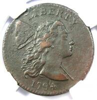 1794 LIBERTY CAP LARGE CENT 1C COIN S-22 VARIETY - CERTIFIED NGC EXTRA FINE  DETAILS EF