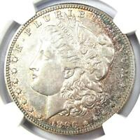 1896-S MORGAN SILVER DOLLAR $1 COIN - CERTIFIED NGC AU DETAILS -  DATE