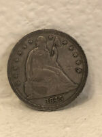 1845 SEATED LIBERTY DOLLAR $1 90  SILVER U.S. MINT