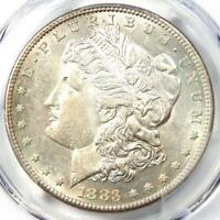 1883-S MORGAN SILVER DOLLAR $1 COIN - CERTIFIED PCGS AU55 - SHARP FEATHERS