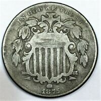 1875 SHIELD NICKEL BEAUTIFUL COIN RARE DATE
