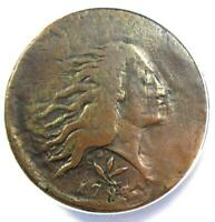 1793 FLOWING HAIR WREATH CENT 1C S-8 - CERTIFIED ANACS VG8 DETAIL -  COIN
