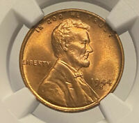 1944 S NGC MINT STATE 67 LINCOLN WHEAT CENT GRADED BU SUPER GEM BRIGHT RED PENNY