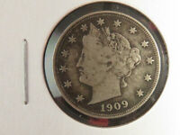 1909 LIBERTY NICKEL WITH VF DETAILS