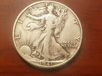 1941 D WALKING LIBERTY HALF DOLLAR SILVER COIN 50 CENTS WALKER 50C WWII RELIC