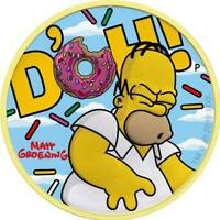 TUVALU 2019 1$ HOMER SIMPSON   CLOUDS 1 OZ SILVER GILDED COI