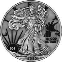 USA 2020 1$ LIBERTY SPACE COLOUR EDITION   PAINT IT GREY   1