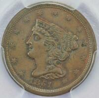 1851 BRAIDED HAIR HALF CENT PCGS MINT STATE 63BN - DOUBLEJCOINS 2006-15