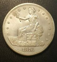 1876 S SILVER TRADE DOLLAR.  LOW SHIPPING   UNC/DETAILS