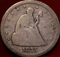 1875 S SAN FRANCISCO MINT TWENTY CENT SILVER COIN.  LOW SHIP