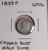 1833 P CAPPED BUST HALF DIME 16976 - SHIPS FREE