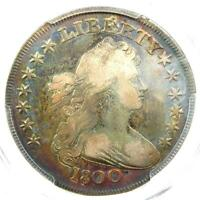 1800 DRAPED BUST SILVER DOLLAR $1 - CERTIFIED PCGS FINE DETAILS - LOOKS VF