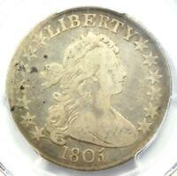 1805 DRAPED BUST HALF DOLLAR 50C COIN - CERTIFIED PCGS F12 -  COIN