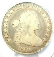 1805 DRAPED BUST HALF DOLLAR 50C COIN - CERTIFIED PCGS VG DETAILS