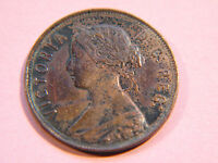 NEWFOUNDLAND 1872 H CANADIAN LARGE CENT COIN  QUEEN VICTORIA