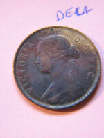 2 NEWFOUNDLAND 1890 CANADIAN LARGE CENT COIN  QUEEN VICTORIA