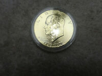 1776-1976 IKE DOLLAR-BU AND GOLD PLATED-INCLUDED IS A COA, CAPSULE & DISPLAY BOX