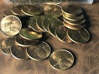 1946-D BU UNCIRCULATED LINCOLN WHEAT ROLL CENT PENNIES 50 COINS