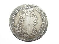 05F37 CU SILVER LOUIS XIV OF 3 CROWNS 1709 V TROYES 42 MM/30,42 GRAMS