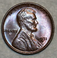BRILLIANT UNCIRCULATED 1931 S LINCOLN CENT BEAUTIFULLY TONED