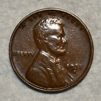 EXTRA FINE 1931 S LINCOLN CENT SHARP CHOCOLATE BROWN SPECIME