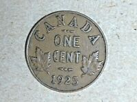 1925 CANADA ONE CENT