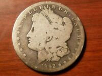 1892 S MORGAN SILVER DOLLAR LIBERTY HEAD $1 COIN AMERICAN EAGLE NICE