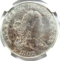1802 DRAPED BUST SILVER DOLLAR $1 COIN - CERTIFIED NGC VF DETAILS -