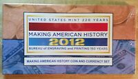 2012 S MAKING AMERICAN HISTORY SET WITH S MINT SILVER EAGLE AND $5 BILL UNOPENED