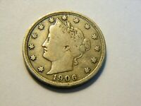 1906 F LIBERTY V NICKEL,   LOW PRICED VINTAGE COIN FOR A COLLECTION
