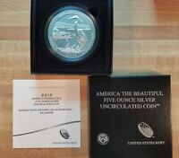 2014 P 5 OZ BOMBAY HOOK AMERICA THE BEAUTIFUL FIVE OUNCE SILVER COLLECTOR COIN