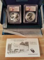 2013 W PCGS PF70/MS70 FS WEST POINT TWO COIN SET WITH OGP HARD PRESENTATION BOX