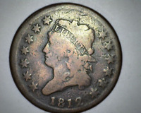 1812 U.S. CLASSIC HEAD LARGE CENT - SOLID   GOOD CONDITION -  DETAIL