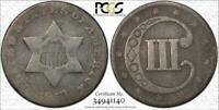 1853 THREE CENT SILVER PCGS G 06 - LOW BALL - DOUBLEJCOINS 3007-72