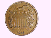 1865 2 CENT COIN 95  FULL MOTTO